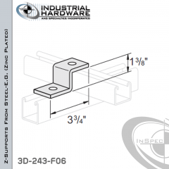 Z-Supports From Steel-E.G. (Zinc Plated) With 1-3/8 in. Offset And 2-Holes