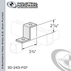 Z-Supports From Steel-E.G. (Zinc Plated) With 2-7/16 in. Offset And 2-Holes