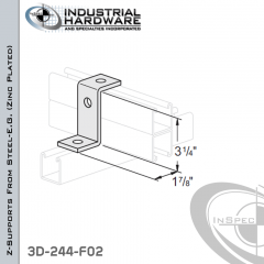 Z-Supports From Steel-E.G. (Zinc Plated) With 3-1/4 in. Offset And 3-Holes