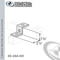 Z-Supports From Steel-Zinc Yellow Plating With 1-5/8 in. Offset And 3-Holes