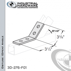 37-1/2 Degree Obtuse (Open) Angle From Steel-E.G. (Zinc Plated) With 3-1/2 in. Leg And 4-Holes