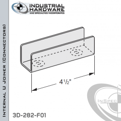 Internal U Joiner (Connectors) From Steel-E.G. (Zinc Plated) For 1-5/8 in. Strut X 4-1/2 in. Long