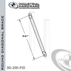 Round Diagonal Braces From Steel-E.G. (Zinc Plated) For All Strut X 36 in. Long