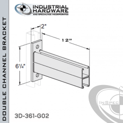Double Channel Bracket From Steel-Hot Dip Galv. For All Strut X 12 in. Long