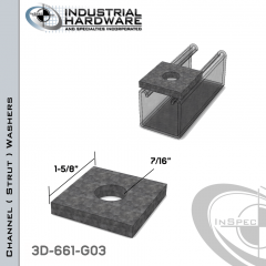 Channel ( Strut ) Washers Steel-Hot Dip Galv. 7/16 in. Hole X 1-5/8 in. Square X 1/4 in. Thick