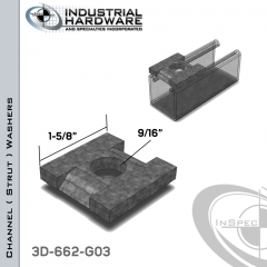 Channel ( Strut ) Washers Channel Guides Steel-Hot Dip Galv. 9/16 in. Hole X 1-5/8 in. Square X 1/4 in. Thick
