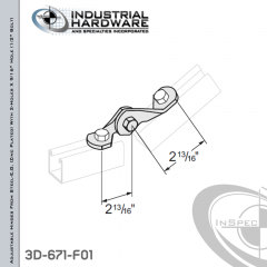 Adjustable Hinges From Steel-E.G. (ZP) With 2-Holes X 9/16 in.