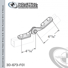Adjustable Hinges From Steel-E.G. (ZP) With 4-Holes X 9/16 in. Hole