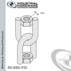 Strut Swivel-(Female/Female)-From-Steel-E.G.-(Zinc-Plated)-With-3/8-16-Thread