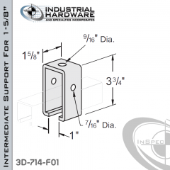 Intermediate Support For 1-5/8 in. Track From Steel-E.G. (Zinc Plated)