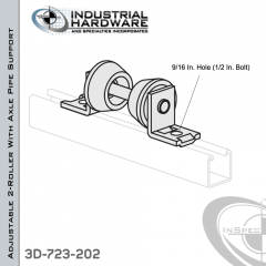 Pipe Support Made From Aluminum For 2-1/2 in.-4 in. Pipe (Adjustable)