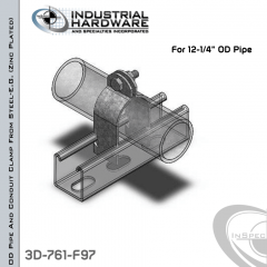 OD Pipe And Conduit Clamp From Steel-E.G. (Zinc Plated) For 12-1/4 in. OD Pipe