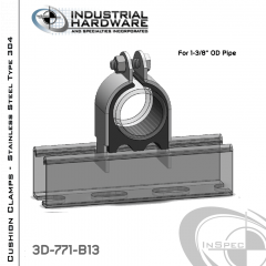Cushion Clamps From Stainless Type 304 For 1-3/8 in. OD Tube