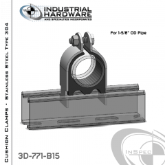 Cushion Clamps From Stainless Type 304 For 1-5/8 in. OD Tube