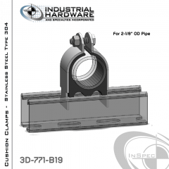 Cushion Clamps From Stainless Type 304 For 2-1/8 in. OD Tube