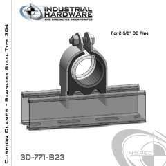 Cushion Clamps From Stainless Type 304 For 2-5/8 in. OD Tube