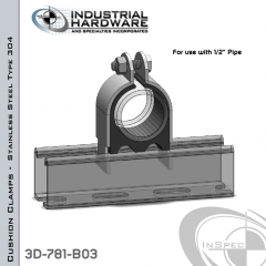 Cushion Clamps From Stainless Type 304 For 1/2 in. Pipe