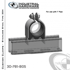 Cushion Clamps From Stainless Type 304 For 1 in. Pipe