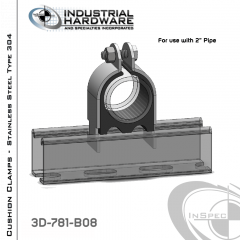 Cushion Clamps From Stainless Type 304 For 2 in. Pipe