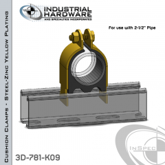 Cushion Clamps From Steel-Zinc Yellow Plating For 2-1/2 in. Pipe