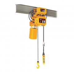 Bison HHBDSK03-01D+WPC03D: 3 Ton 3 Phase Dual Speed Electric Chain Hoist with Trolley 20 ft. Lift