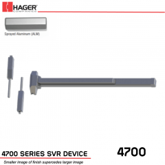 Hager 4701 Surface Vertical Rod 48 x 96 Fire Rated ALM Stock No 132193
