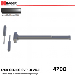 Hager 4701 Surface Vertical Rod 48 x 96 Fire Rated DBZ Stock No 085299