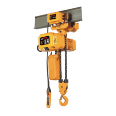 Bison HHBDSK05-02D+WPC05D: 5 Ton 3 Phase Dual Speed Electric Chain Hoist with Trolley 20 ft. Lift