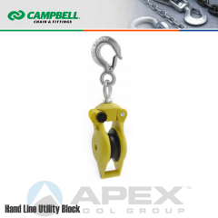 Campbell #7380300 3 in. Nylon Single Hand Line Utility Block - WLL 1000 lb - Hook w/Latch