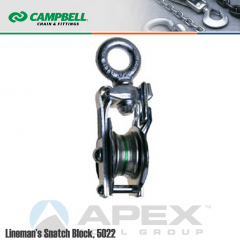 Campbell #7380603 Lineman Snatch Block - Swivel Eye Bolt- 3/4 in. Rope