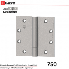 Hager 750 5 x 4.5 US26D Full Mortise Hinge Stock No 002073