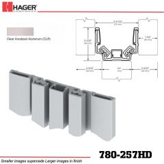 Hager 780-257HD CLR Full Surface Leaf Hinge Stock No 081899