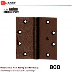 Hager 800 5 x 5 US10B Full Mortise Hinge Stock No 058056
