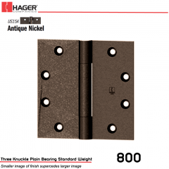 Hager 800 4.5 x 4  US15A Full Mortise Hinge Stock No 047197