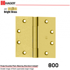 Hager 800 4.5 x 4  US3 Full Mortise Hinge Stock No 179283