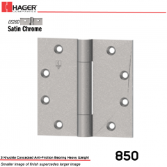 Hager 850 4.5 x 4.5 US26D Full Mortise Hinge Stock No 002644