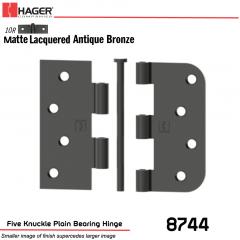 Hager 8744 US10R Full Mortise Hinge Stock No 042101