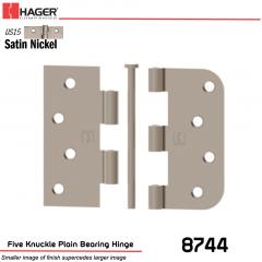 Hager 8744 US15 Full Mortise Hinge Stock No 080130