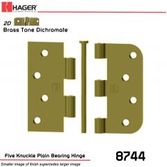 Hager 8744 US2D Full Mortise Hinge Stock No 029630
