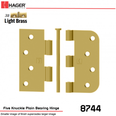 Hager 8744 US3LB Full Mortise Hinge Stock No 029636