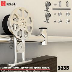 Hager 9435 Top Mount Spoke Wheel Barn Door Stock No 183642