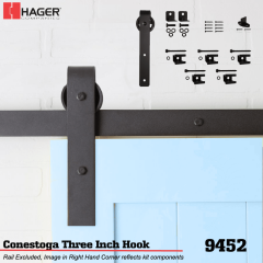 "Hager 9452 Conestoga 3"" Hook Stock No 188467"