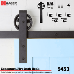"Hager 9453 Conestoga 5"" Hook Stock No 188468"