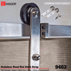Hager 9462 Face Mount Stick Barn Door Stock No 183684