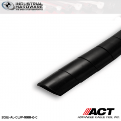 ACT AL-CWP-1000-0-C 1 in. Polyethylene UV Black Cable Wrap 100 ft
