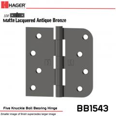 Hager 1543 US10R Full Mortise Hinge Stock No 036980