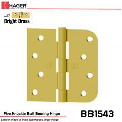 Hager 1543 US3 Full Mortise Hinge Stock No 071637