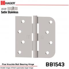 Hager 1543 US32D Full Mortise Hinge Stock No 014771