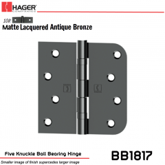 Hager 1817 US10R Full Mortise Hinge Stock No 041720
