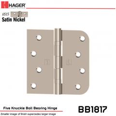 Hager 1817 US15 Full Mortise Hinge Stock No 070562